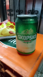 Skopsko, Macedonian beer and tomato sauce crisps