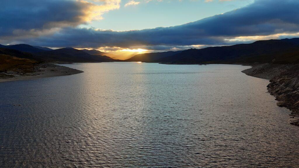 Sunset from Orrin Dam