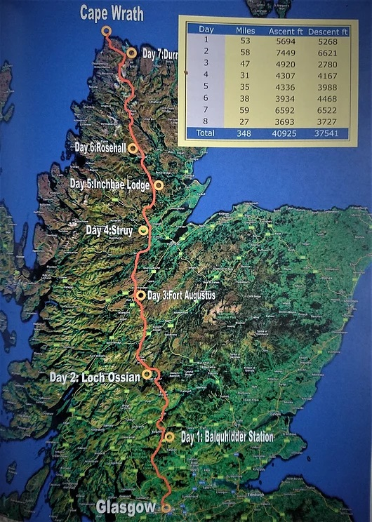 An Turas Mor Route map